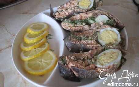 Рецепт Горбуша с яйцом и шпинатом в пароварке