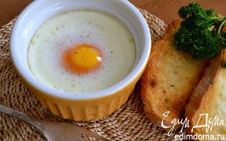 Рецепт Яйца кокот с семгой
