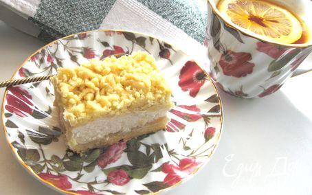 Рецепт Пирог из песочного теста с творожной начинкой
