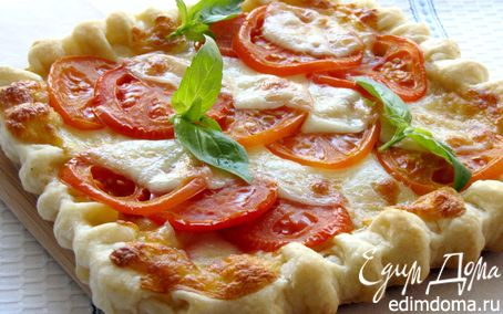 Рецепт Пирог с помидорами, моцареллой и сладким перцем