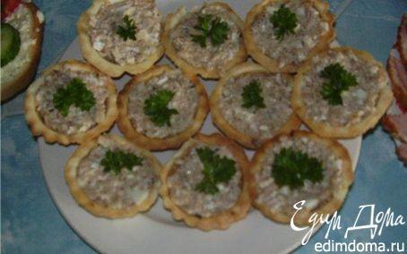Рецепт Паштет из куриной печени в тарталетках