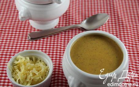 Рецепт Пряный морковный суп-пюре с бататом, грибами и грушей