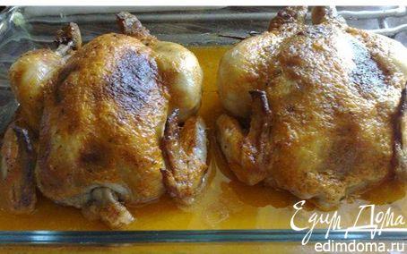 Рецепт Цыплята, фаршированные сухарями и зеленью