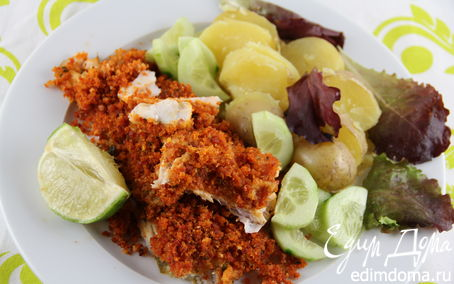 Рецепт Рыбное филе, запеченное под корочкой из чоризо