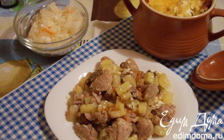 Рецепт Жаркое со свининой и опятами