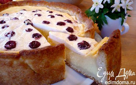 Рецепт Творожный десерт с пудингом и вишневым безе «Чизкейк, сэр?!»
