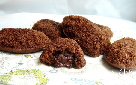 """Рецепт Шоколадные """"Мадлен"""" с ганашем"""