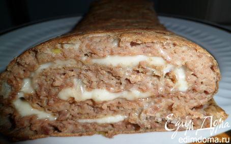 Рецепт Печеночный рулет с сыром