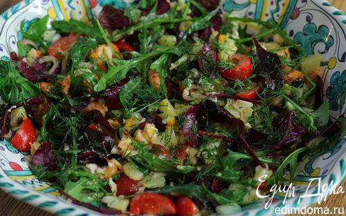 Рецепт Салат с раковыми шейками, картофелем и оливками