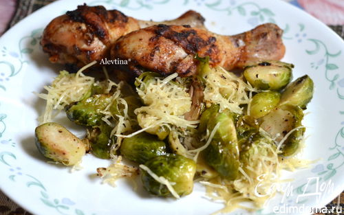 Рецепт Куриные ножки с брюссельской капустой