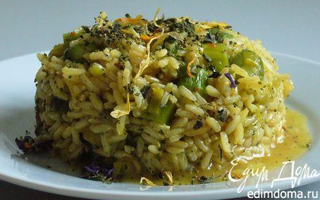 Рецепт Горчичный рис со спаржей и пореем «Все дело в травках»