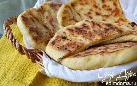 "Рецепт Индийские лепешки ""Наан с сыром"" (Cheese naan)"