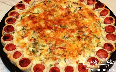 Рецепт Заливная пицца-пирог