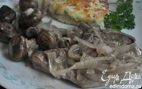Рецепт Свиные котлеты на косточке с грибами