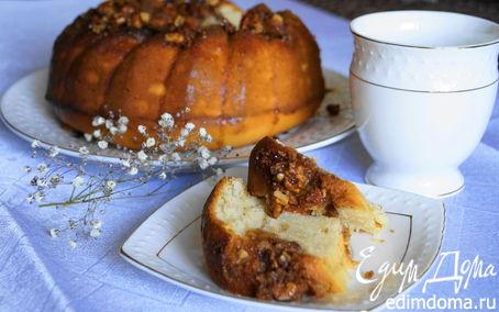 Рецепт Кекс с имбирем и ореховым топпингом