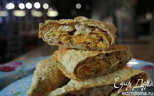 Рецепт Пирожки из лаваша с курицей и капустой