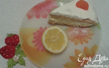 Рецепт Простой бисквитный пирог с лимонным кремом