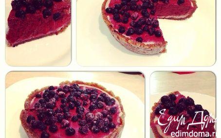 Рецепт Черничный торт (сырой)