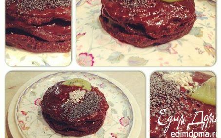 Рецепт Шоколадное пирожное с киви (сырое)