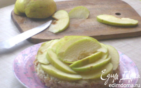 """Рецепт Творожная запеканка """"Яблочные розы"""" (без пшеничной муки, сахара, жира и сметаны)"""