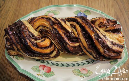 Рецепт Сдоба с шоколадно-ореховой начинкой