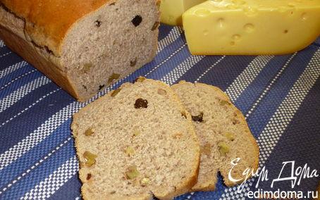 Рецепт Французский хлеб на красном вине, с орехами и изюмом в хлебопечке