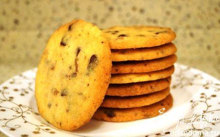 Рецепт Песочное печенье с шоколадом и цукатами из имбиря