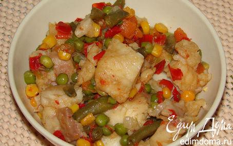 Рецепт Рыба с овощами в мультиварке в мультиварке