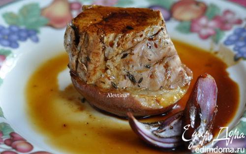 Рецепт Свиная вырезка с грушами и глазурью