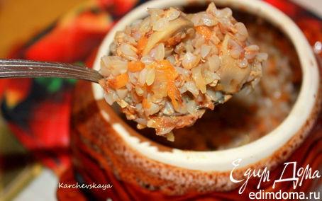 Рецепт Горшочек с гречей и грибами