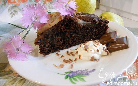 Рецепт Шоколадный торт с грушами (Torta di cioccolato e pere)