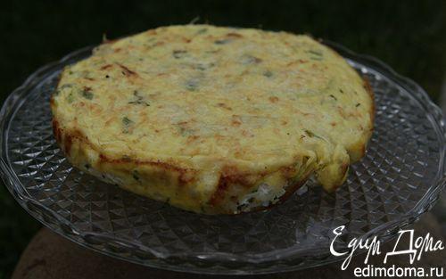 Рецепт Рисовый пирог с творогом и зеленым луком