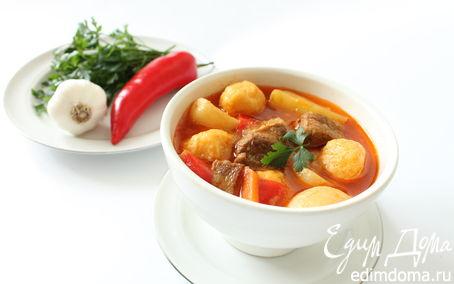 суп гуляш с клецками пошаговый рецепт с фото