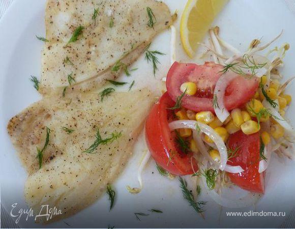 Запеченная рыба с Летним салатом