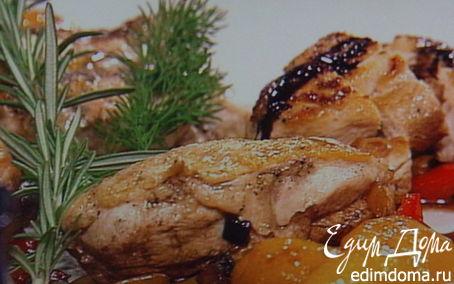 Рецепт Куриное филе с овощным рагу под бальзамическим соусом