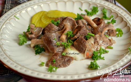 Рецепт Говядина со свежими грибами шиитаке