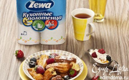 Рецепт Чуррос со сливочным кремом и ягодами