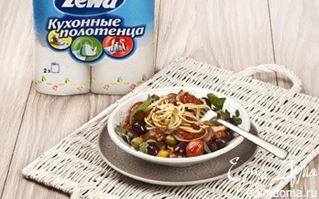 Рецепт Спагетти с помидорами и чили