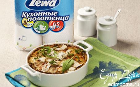Рецепт Картофельная запеканка с пореем и беконом