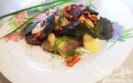 Рецепт Теплый салат из свеклы с сыром