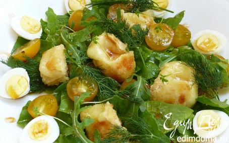 Рецепт Теплый салат с сыром бри
