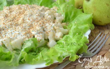 Рецепт Свежий летний салат с фетой и огурцом