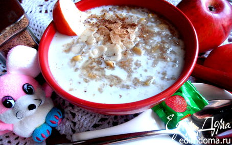 """Рецепт Летний суп из 4-х злаков с яблоками и ревенем (""""Холодные супы"""")"""
