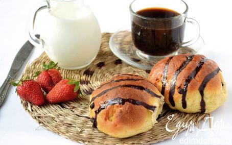 Рецепт Сдобные кокосовые булочки с шоколадными каплями