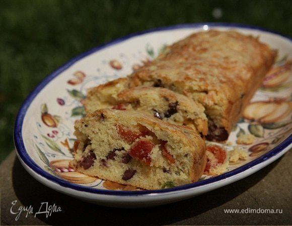 Хлеб со спаржей, оливками и вялеными помидорами