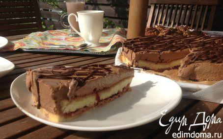 """Рецепт Торт с шоколадным кремом """"Бавария"""""""