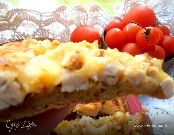 Пирог-перевертыш с курицей для всех мужчин и мальчишек-кулинаров сайта