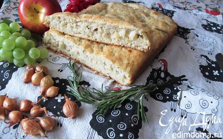 Рецепт Фокачча на сыворотке с луком пастушеская