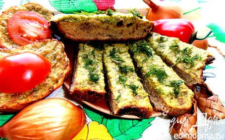 Рецепт Ароматный хлебушек и гренки с чесночно-сырным припеком