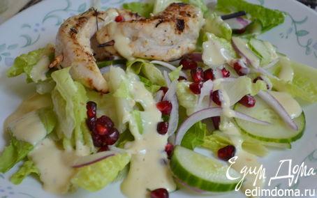 Рецепт Куриный кебаб с салатом